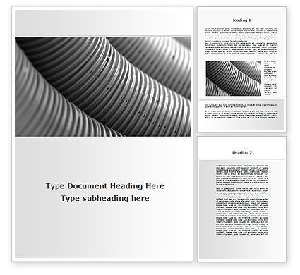 Corrugated Pipes Word Template, 09552, Careers/Industry — PoweredTemplate.com