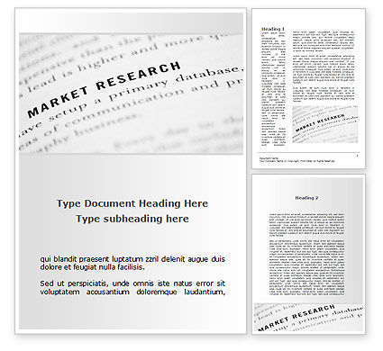 Consulting: Marketing Study Word Template #09556