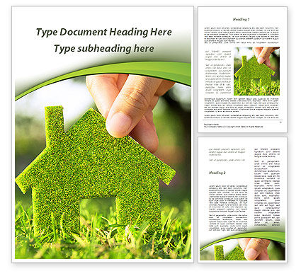 Construction: Green House Building Word Template #09565