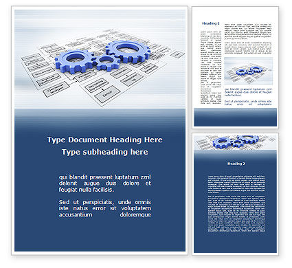 logistic Gears Word Template, 09568, Business — PoweredTemplate.com