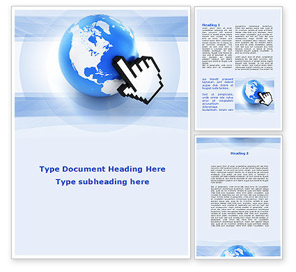 World In Touch Word Template, 09575, Telecommunication — PoweredTemplate.com
