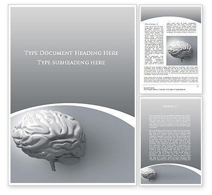 Human Cerebrum Word Template, 09582, Medical — PoweredTemplate.com