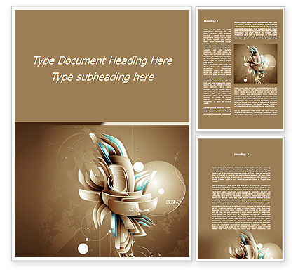 Art & Entertainment: Art of Design Word Template #09584