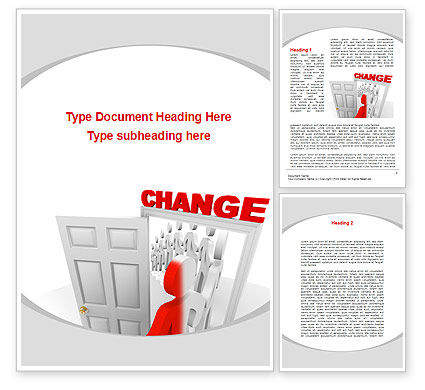 Make A Change Word Template, 09593, Consulting — PoweredTemplate.com