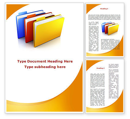 Business Concepts: Document Cases Word Template #09594