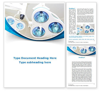 Medical: Medical Lamp Word Template #09598