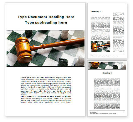 Legal: Gavel Word Template #09599