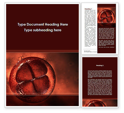 Division Cells Word Template, 09613, Medical — PoweredTemplate.com