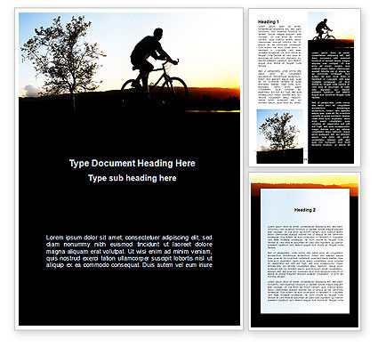 Bicycle Tour Word Template, 09619, Sports — PoweredTemplate.com