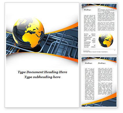 Careers/Industry: Global Pipeline Word Template #09621