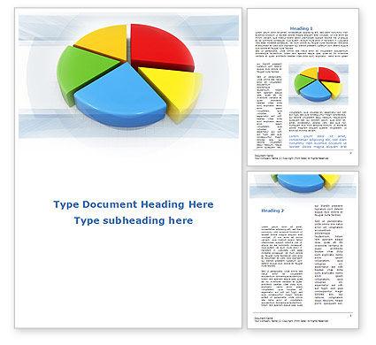 Pie Diagram In 3D Word Template, 09631, Business — PoweredTemplate.com