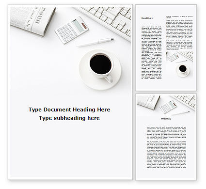 Business: Brunch Businessman Word Template #09633