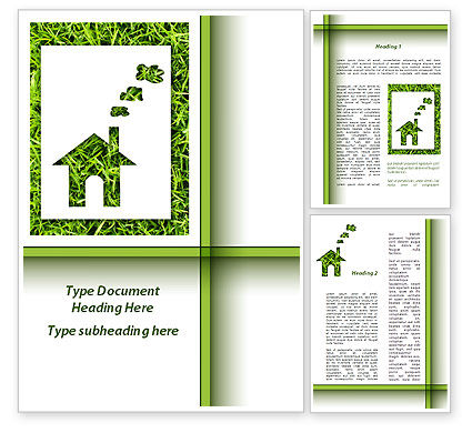 Green House Idea Word Template, 09640, Construction — PoweredTemplate.com
