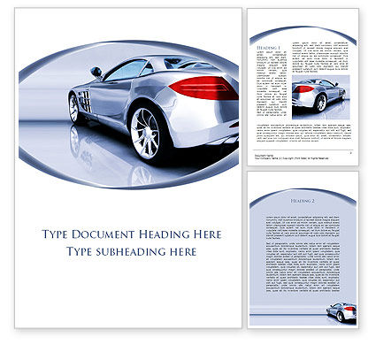 Cars/Transportation: Sports Car Design Word Template #09643