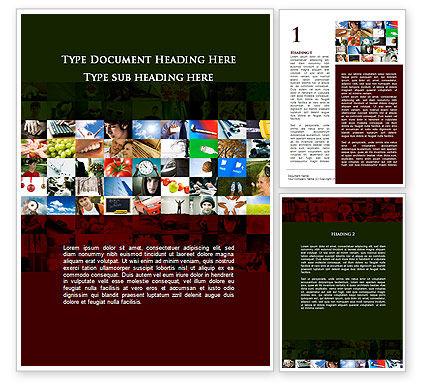 Human Life Word Template, 09644, Education & Training — PoweredTemplate.com
