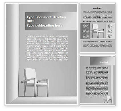 Construction: Chairman's Armchair Word Template #09651