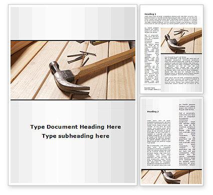 Construction: Plantilla de Word - herramientas de carpintero #09656