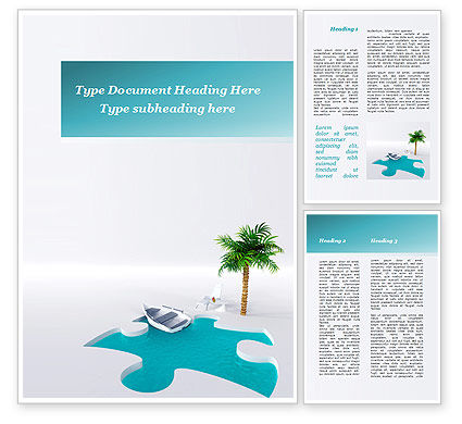 Holiday/Special Occasion: Choice Of Leisure Word Template #09660