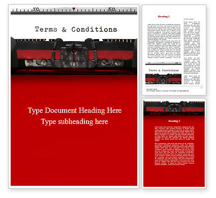 Terms And Conditions Word Template, 09663, Legal — PoweredTemplate.com