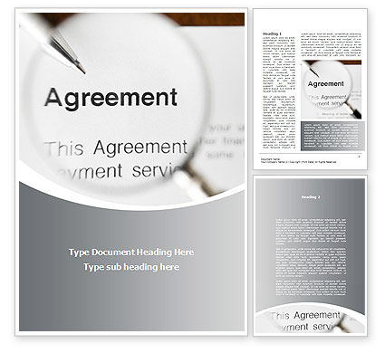 Consulting: Studying And Signing Agreement Word Template #09664