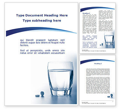 Medical: Taking Medication Word Template #09665