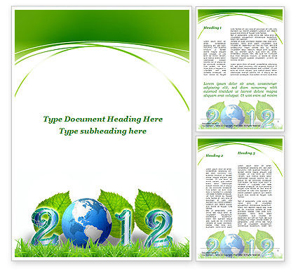 2012 Green Year Word Template