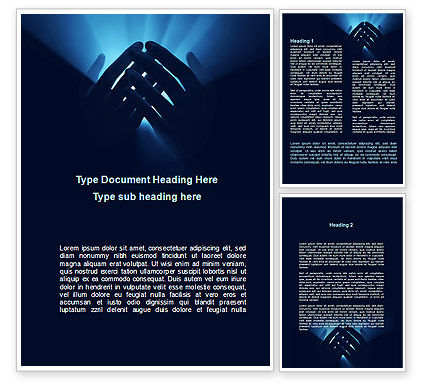 Eternal Light In your Hands Word Template, 09668, Religious/Spiritual — PoweredTemplate.com