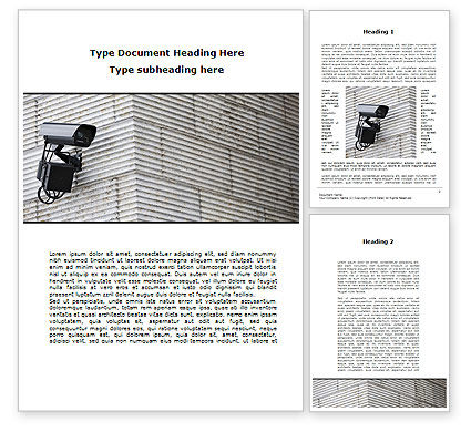 Consulting: Surveillance Camera Word Template #09671