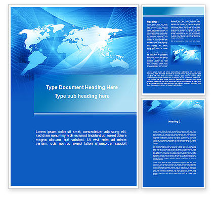 Blue Earth Map Word Template#1