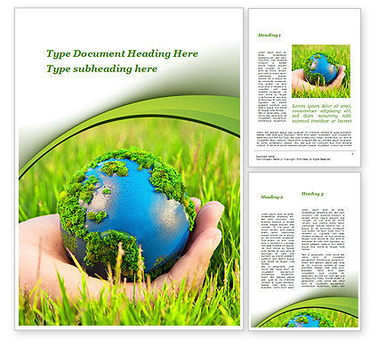 Earth In Hand Word Template