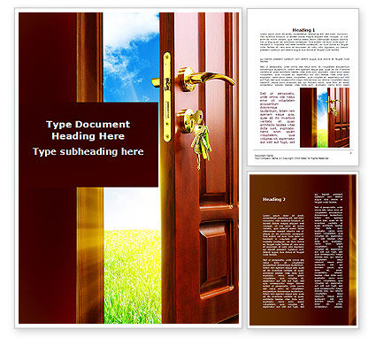 Construction: Door Into Summer Word Template #09685