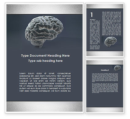 Medical: Human Brain Model Word Template #09687