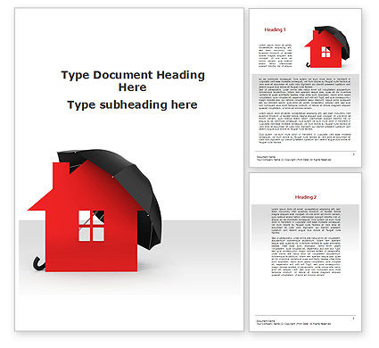 Home Insurance Word Template, 09690, Construction — PoweredTemplate.com