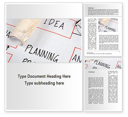 Business: Planning Idea Word Template #09692