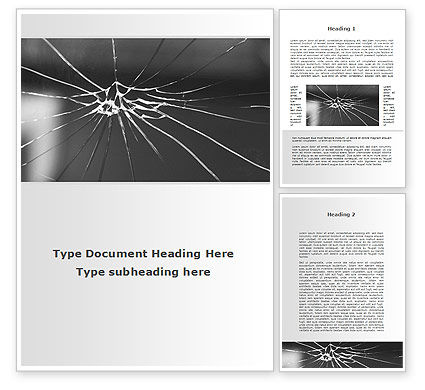 Consulting: Broken Glass Word Template #09695