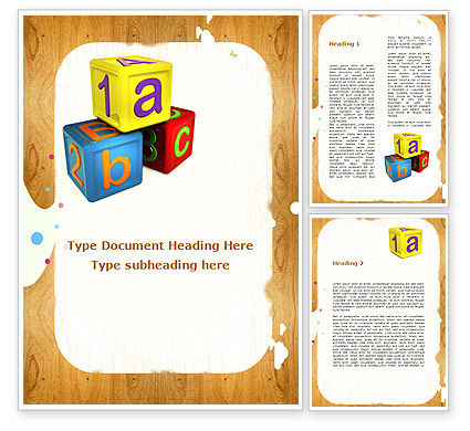 Cubes For Basic Education Word Template