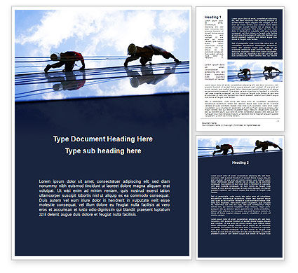 Construction: Windows Washers Word Template #09712