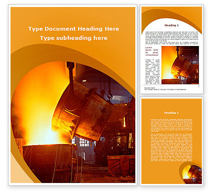 Careers/Industry: Steel Industry Word Template #09715