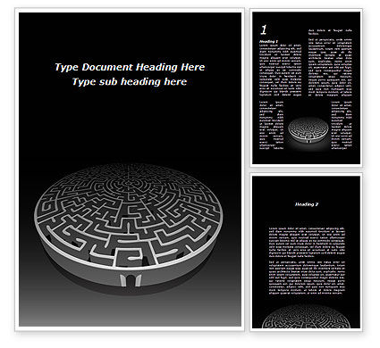 Fortress Labyrinth Word Template, 09717, Business Concepts — PoweredTemplate.com