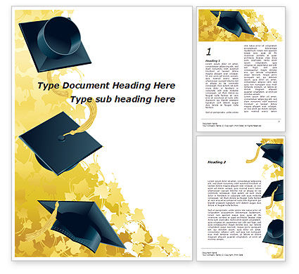 Education & Training: Mortarboard Ahead Word Template #09726