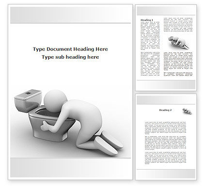 Hugging Toilet Bowl Word Template, 09727, Medical — PoweredTemplate.com