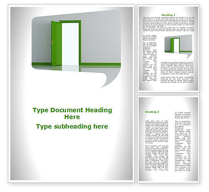 Compromise In The Negotiations Word Template, 09740, Construction — PoweredTemplate.com