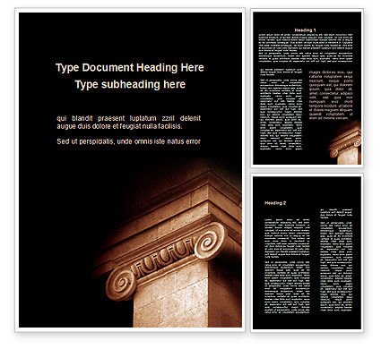 Art & Entertainment: Ionic Capitals Word Template #09741
