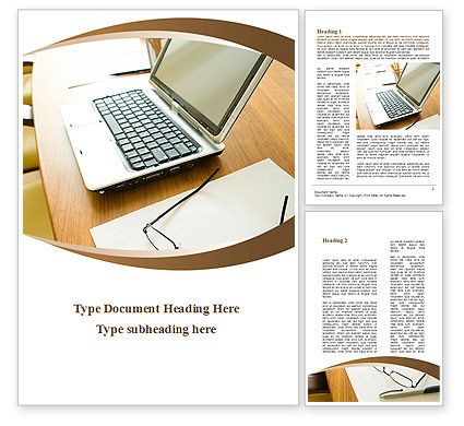 Business Concepts: Office Workplace Word Template #09748
