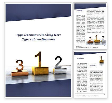 Pedestal Of Champions Word Template, 09750, Business — PoweredTemplate.com