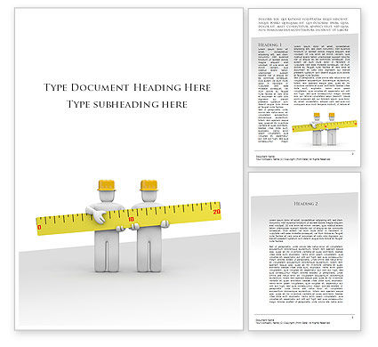 Construction: Measurements Word Template #09752