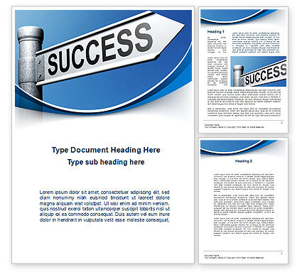 Way To Success Word Template, 09753, Consulting — PoweredTemplate.com