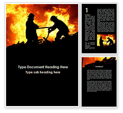 Firefighters Word Template, 09755, Military — PoweredTemplate.com