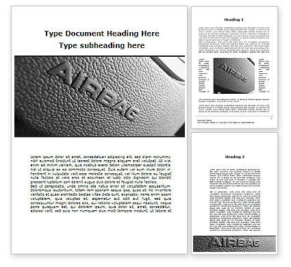Airbag Word Template, 09760, Cars/Transportation — PoweredTemplate.com