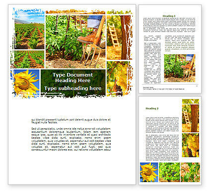 Farm Labor Word Template, 09763, Agriculture and Animals — PoweredTemplate.com
